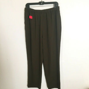 NWT Forever 21 Dress Crops Ankle Pants Brown L 12